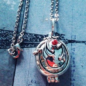 Vampire Diaries locket with chain witchy